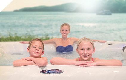 Enjoying a hot tub is safe for the whole family