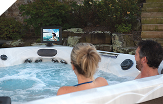Fusion Air bluetooth hot tub Sound System with marine grade speakers and subwoofer